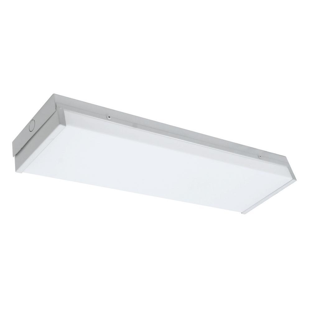 Nicor 150 watt equivalent white integrated led ceiling flush mount in 5000k