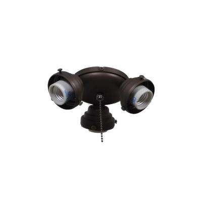 Sinclair 44 in. Oil Rubbed Bronze Ceiling Fan Replacement Light Kit