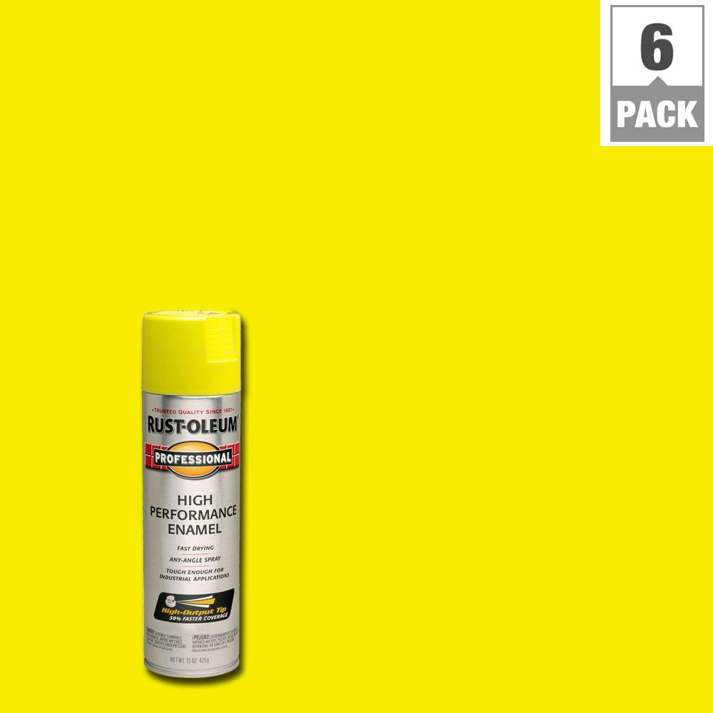 15 oz. Gloss Safety Yellow Protective Enamel Spray Paint (6-Pack)
