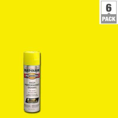 15 oz. High Performance Enamel Gloss Safety Yellow Spray Paint (6-Pack)