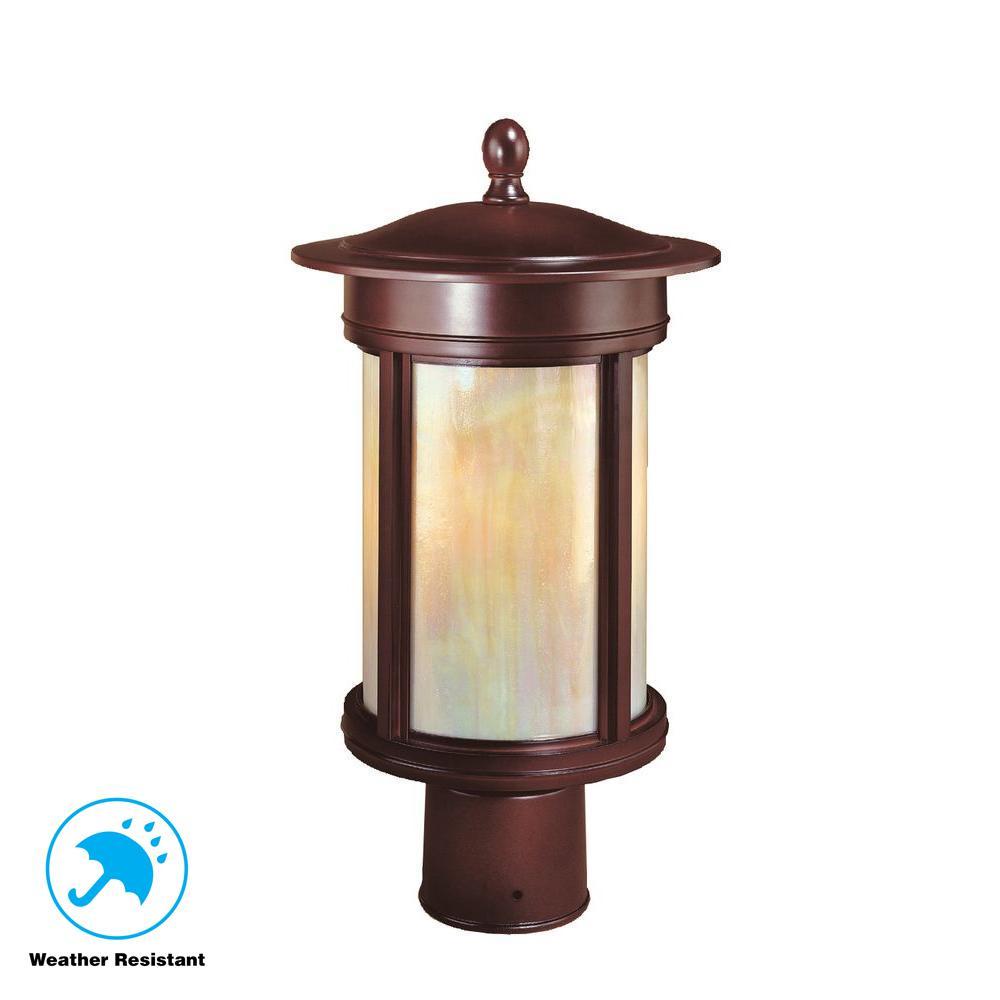 Craftsmen 3-Light Outdoor Oil Rubbed Bronze Post Light