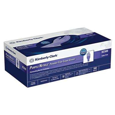 Disposable Purple Nitrile Exam Gloves, Small (100-Count)