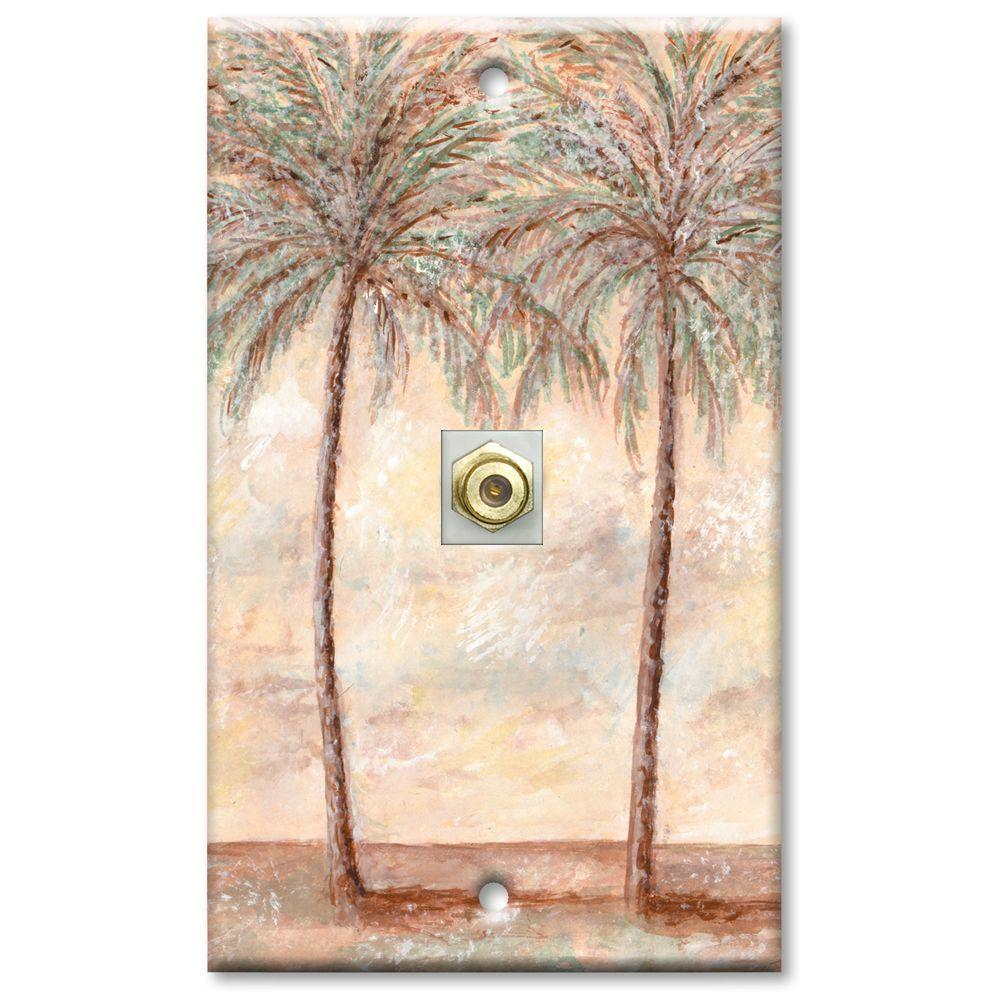 Art Plates Palm Trees - Cable Wall Plate-DISCONTINUED