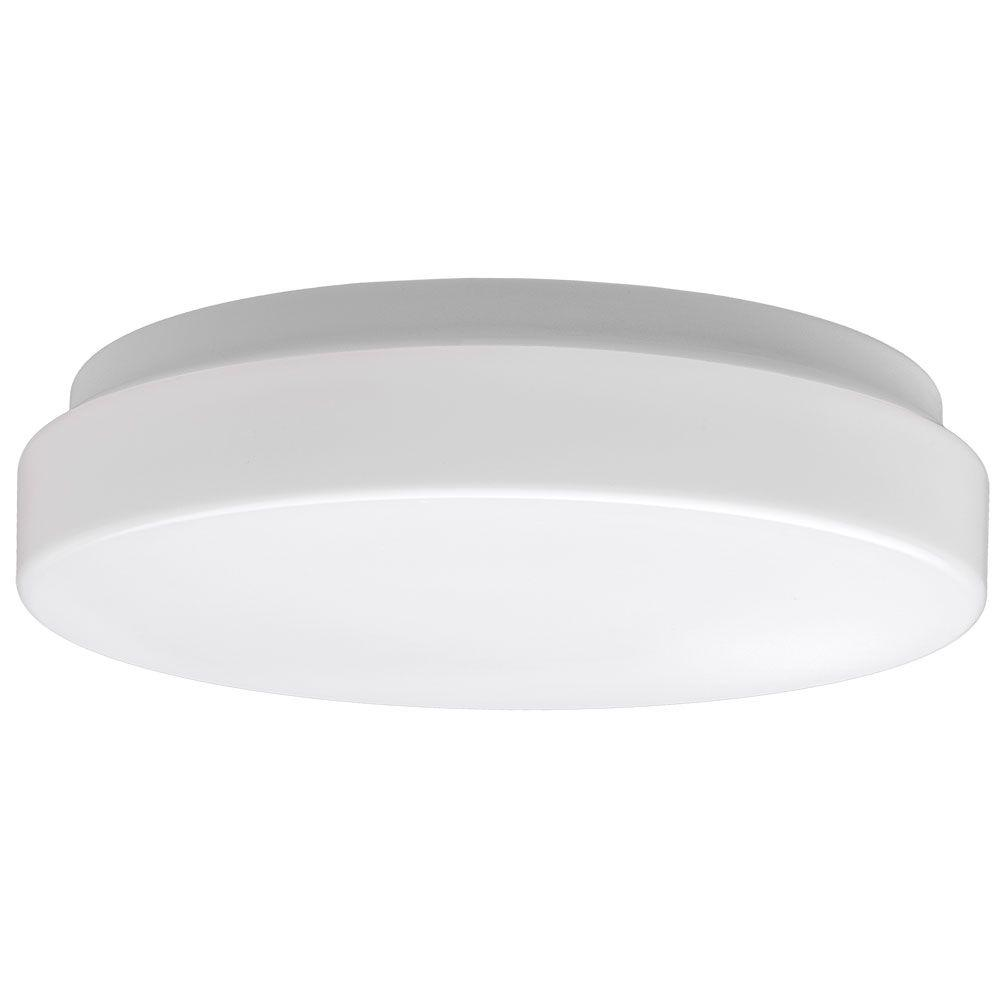 Commercial electric 7 in white low profile 115 watt 800 lumen commercial electric 7 in white low profile 115 watt 800 lumen 4000k bright white integrated led flushmount ceiling light fixture 54663141 the home aloadofball Image collections