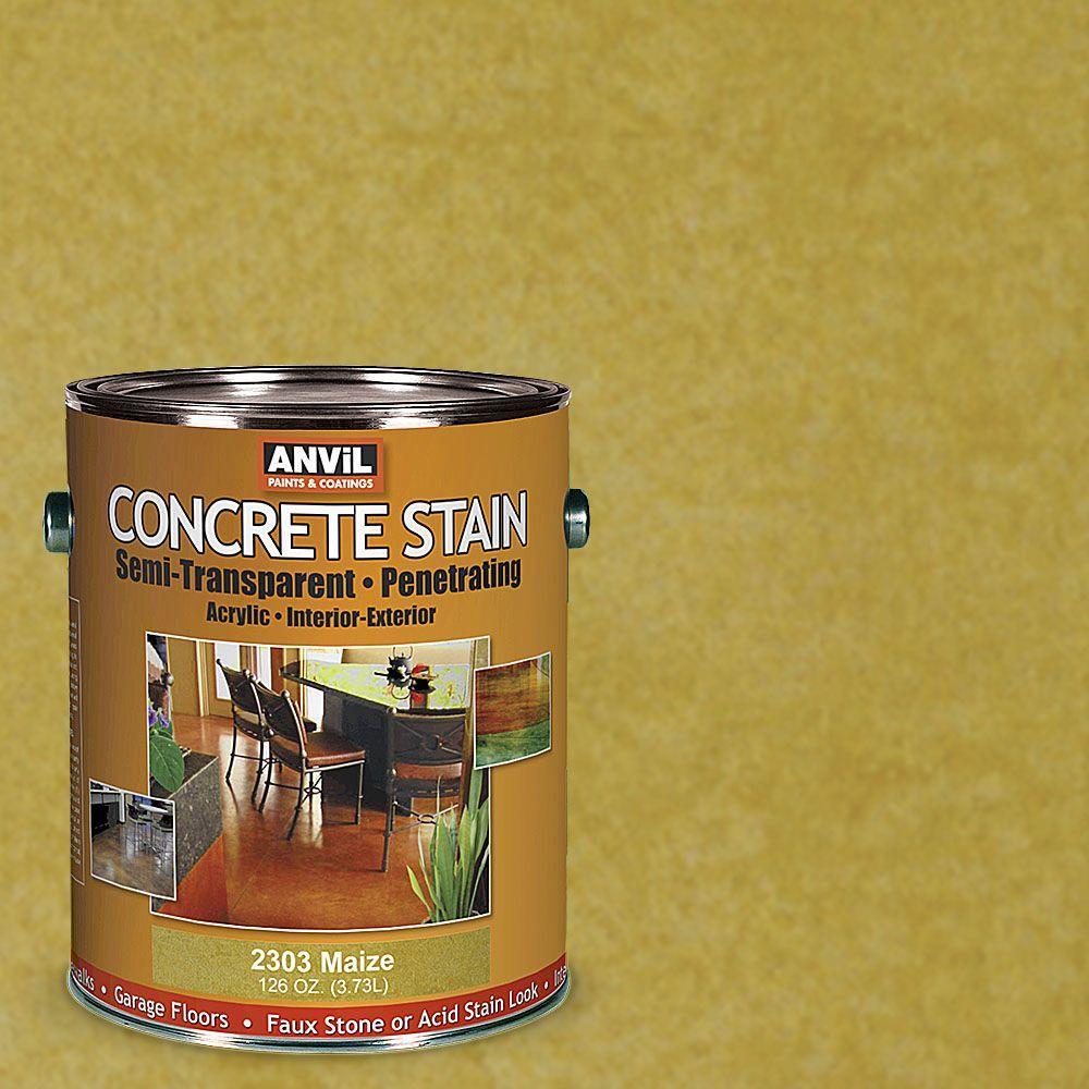 1-gal. Maize Semi-Transparent/Translucent Concrete Stain