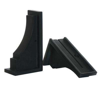 Fairfield Decorative Brackets in Black (2-Pack)