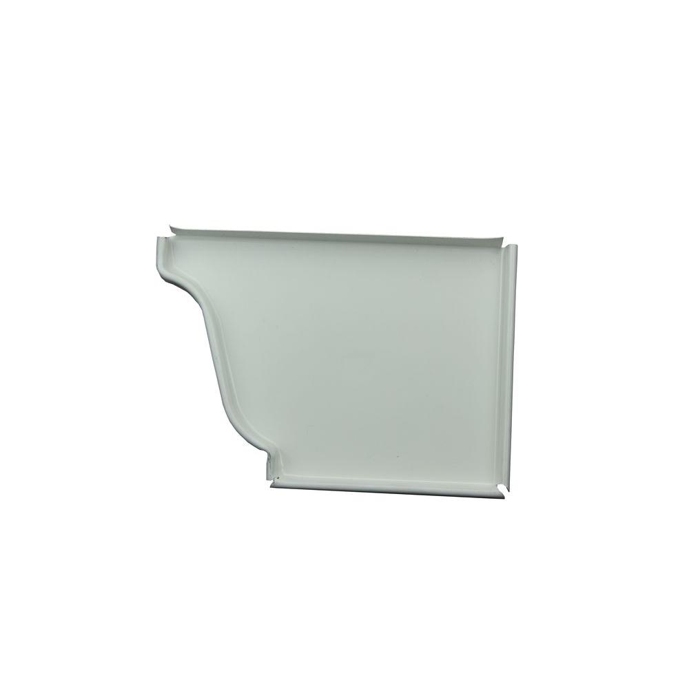 5 in. High Gloss White Aluminum Right End Cap