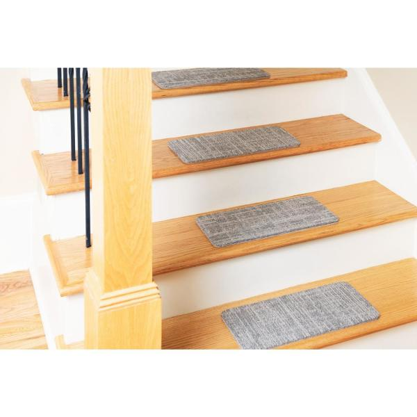 Nance Carpet and Rug - Peel and Stick Earthtone Indoor/Outdoor 8 in. x 18 in. Commercial Stair Tread (Set of 13)