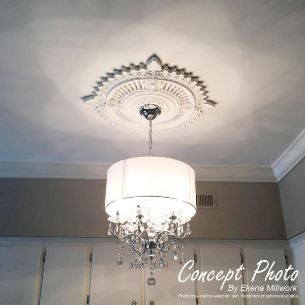16 3//8OD x 1 3//4P Hand-Painted Jet Black Ekena Millwork CM17SOBLF Southampton Ceiling Medallion Fits Canopies up to 2 3//4