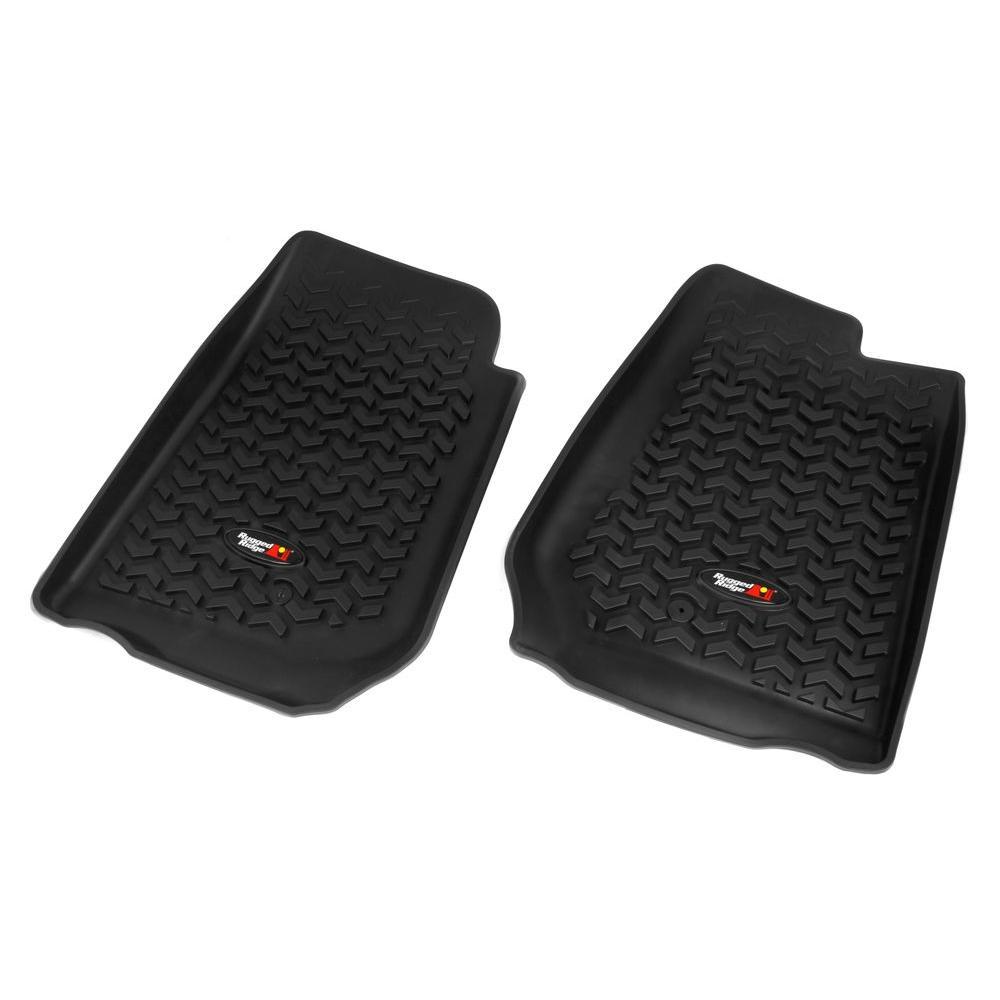 Floor Liner Front Pair Black 2007-2013 RHD Jeep Wrangler JK