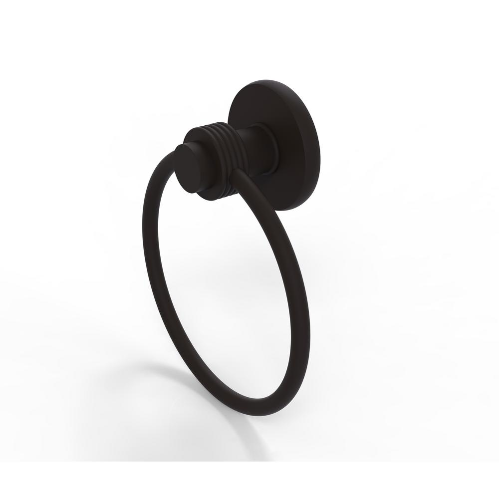 Mercury Collection Towel Ring with Groovy Accent in Oil Rubbed Bronze