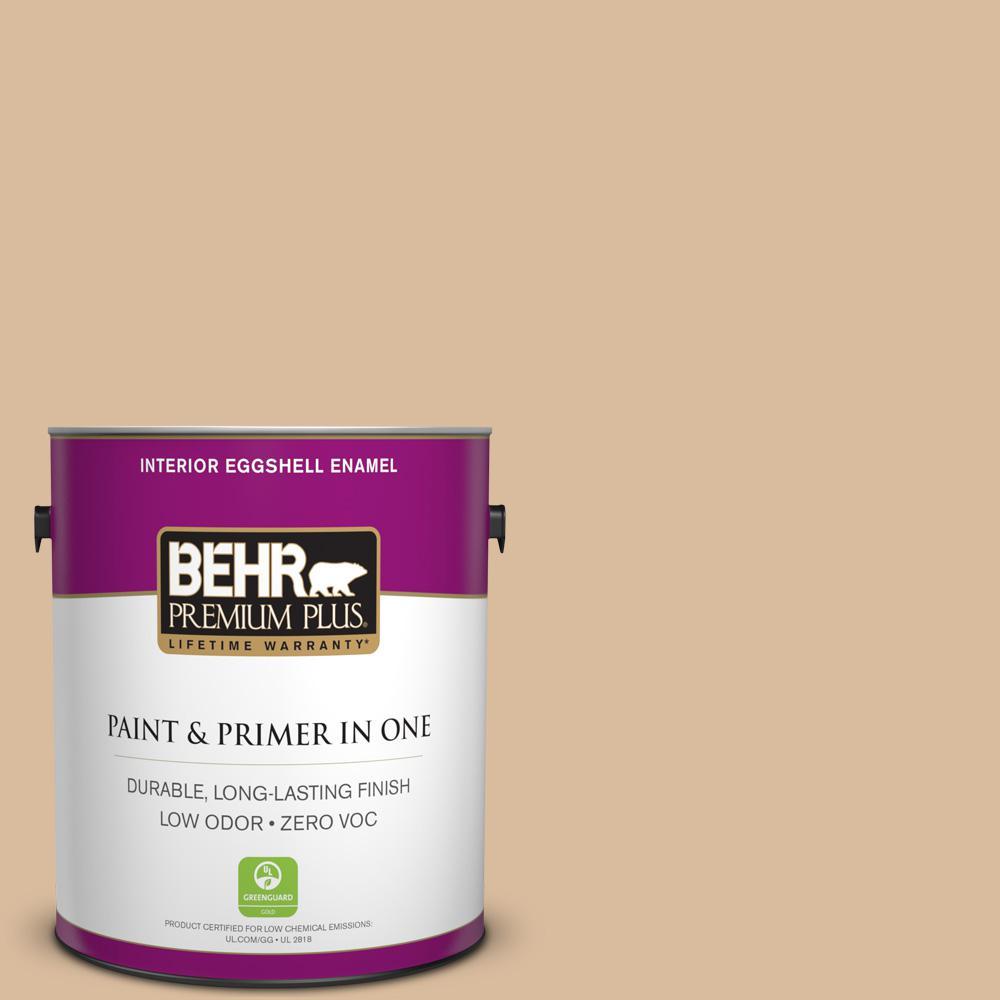 BEHR Premium Plus 1-gal. #BXC-40 Soft Wheat Eggshell Enamel Interior Paint