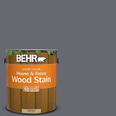 1 gal. #T16-15 Charcoal Plum Solid Color House and Fence Exterior Wood Stain