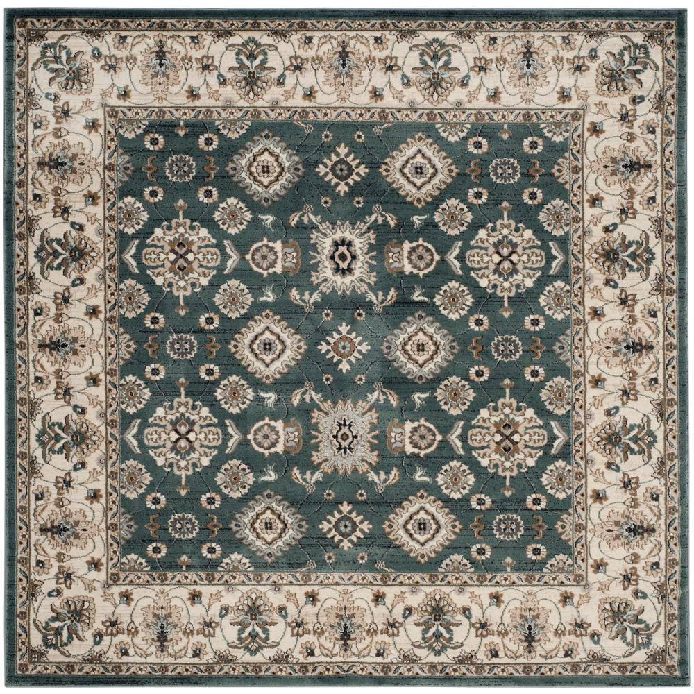 Safavieh Lyndhurst Teal/Cream 7 Ft. X 7 Ft. Square Area
