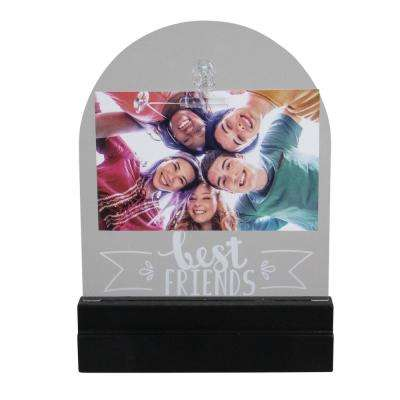 9 in. H x 6 in. W LED Lighted Best Friends Picture Frame with Clip (for All Occasions, New Year's, etc.)