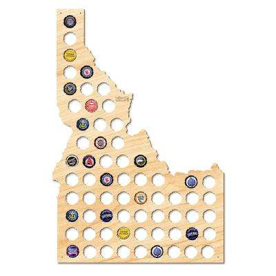 22 in. x 15 in. Large Idaho Beer Cap Map