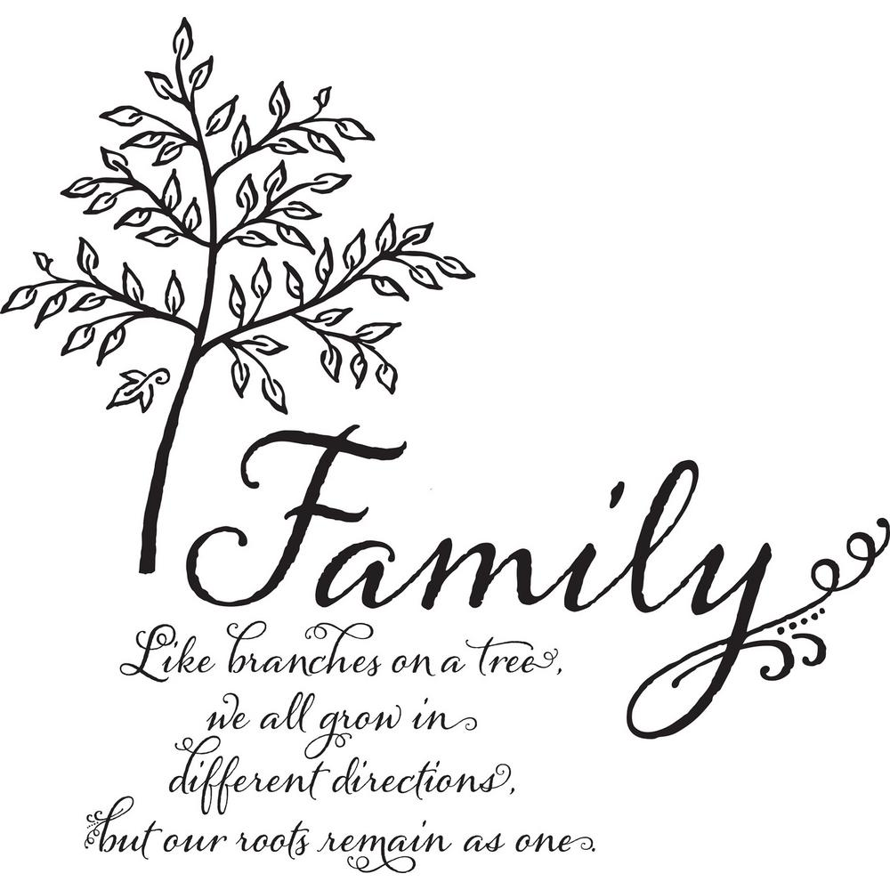 Wall Pops Multi-Color Family Tree Wall Quote Decal ...