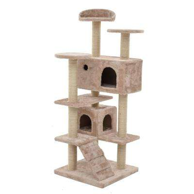 Tan Multi-Level Cat Tree