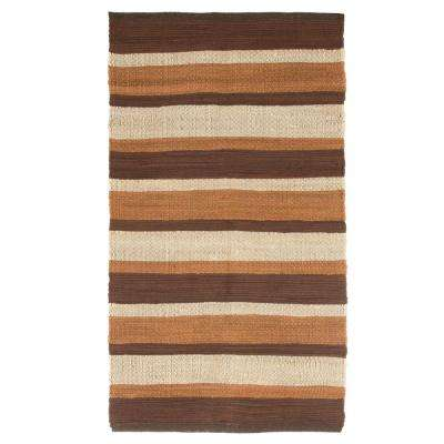 Chindi Stripe Chocolate 2 ft. 3 in. x 3 ft. 9 in. Area Rug