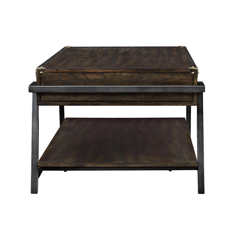 Macall Dark Oak Built-In Storage Coffee Table