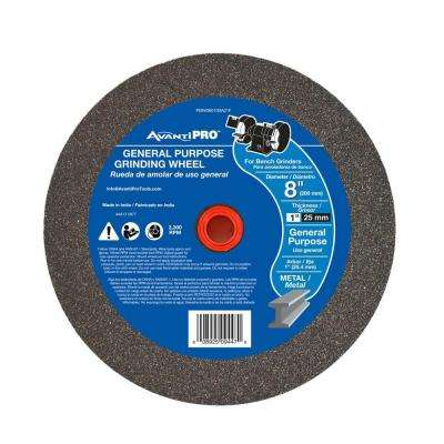 8 in. x 1 in. x 1 in. General Purpose Bench Grinding Wheel