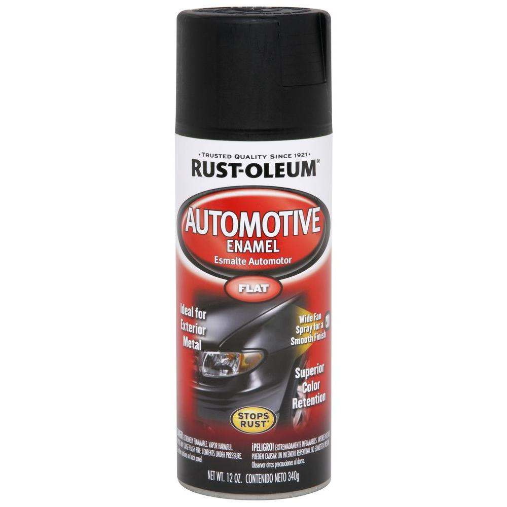 Rust oleum automotive 12 oz matte finish spray paint 263422 the home depot Black spray paint
