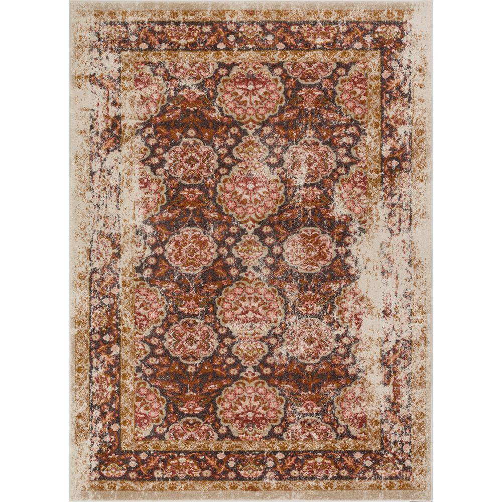 Well Woven Lau Sori Brown 8 Ft X 10 Vintage Antique Look Traditional