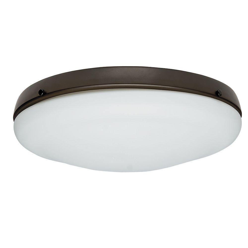 New Bronze Candelabra Bulb Low Profile Light Kit