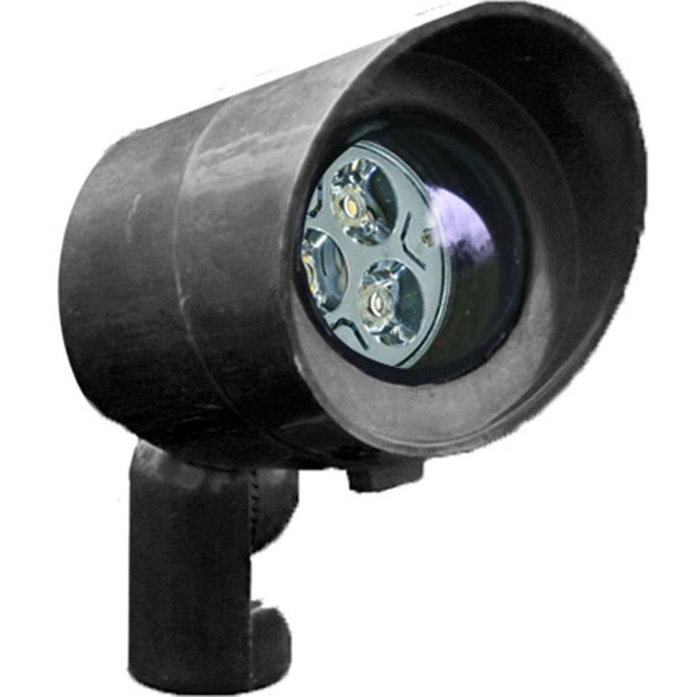 Skive 3-Light Black Outdoor LED Spot Light