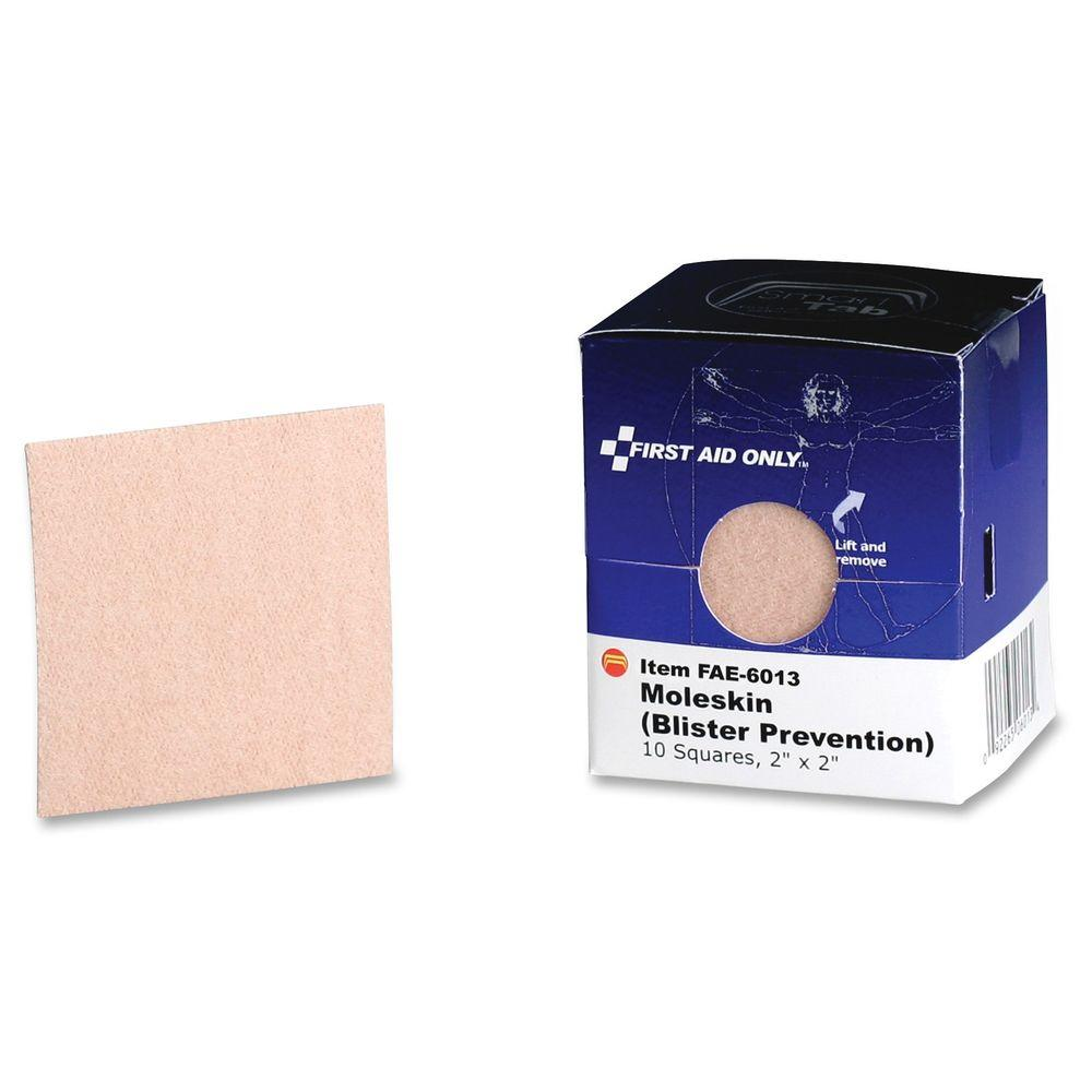 First Aid Only Moleskin/Blister Prevention Squares - 10/B...