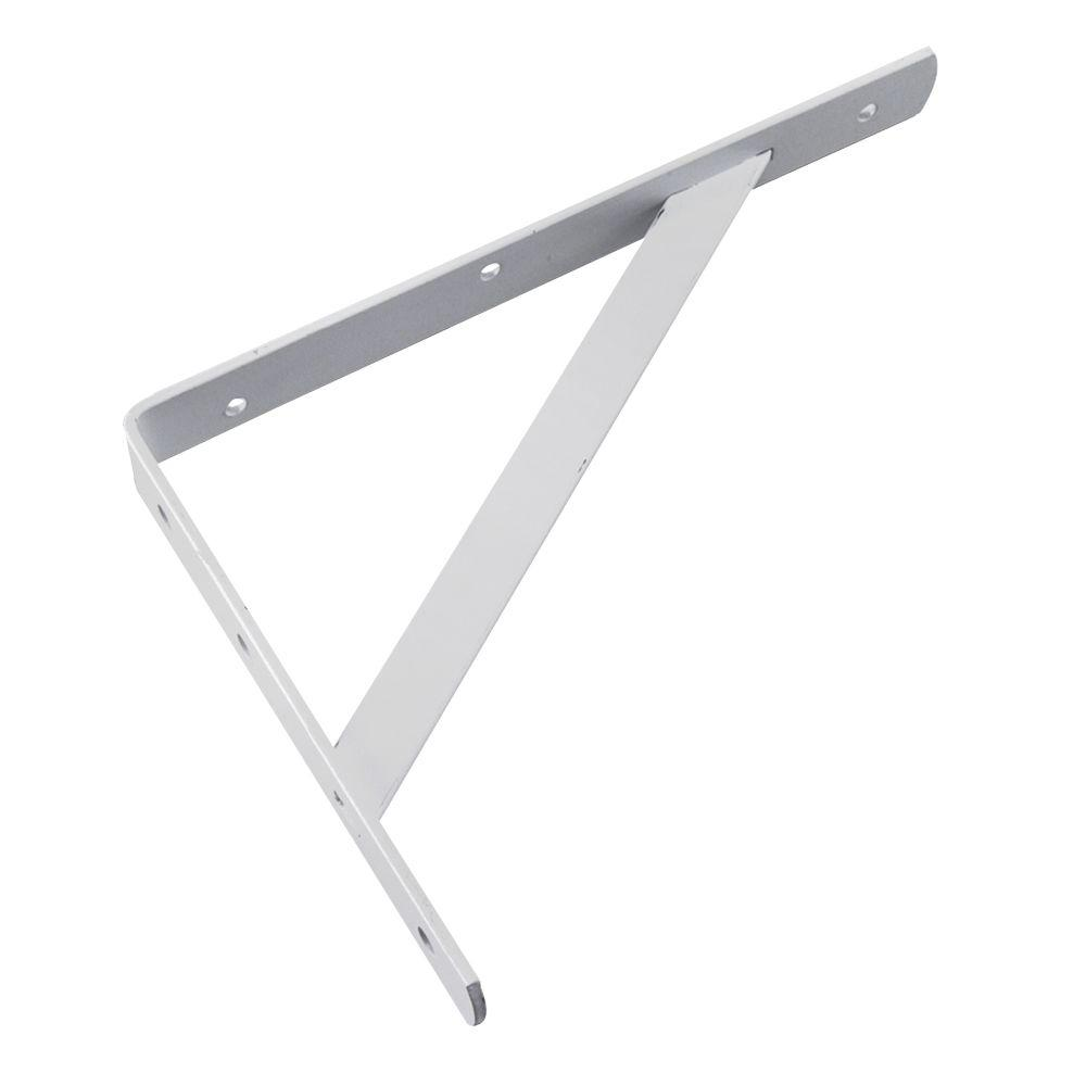 Richelieu Hardware 12 in. White Heavy Duty Shelf Bracket