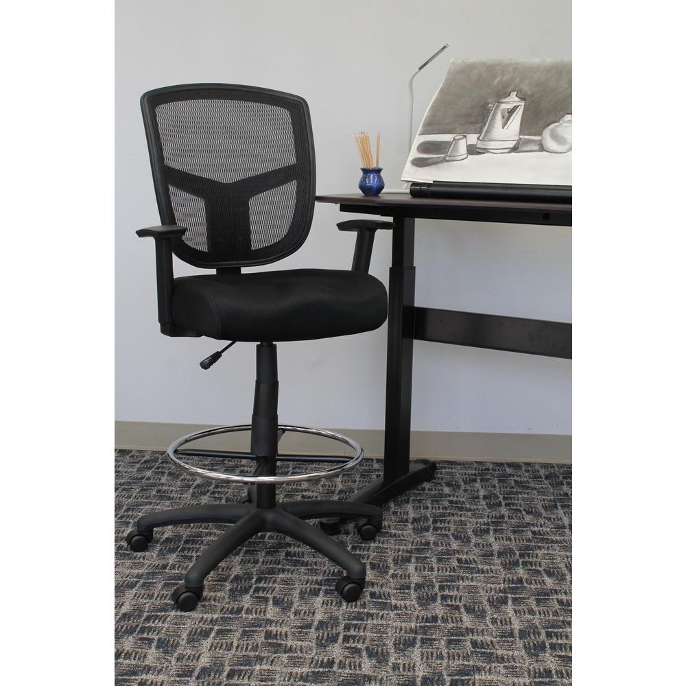 Boss Black Mesh Drafting Stool B16021 The Home Depot