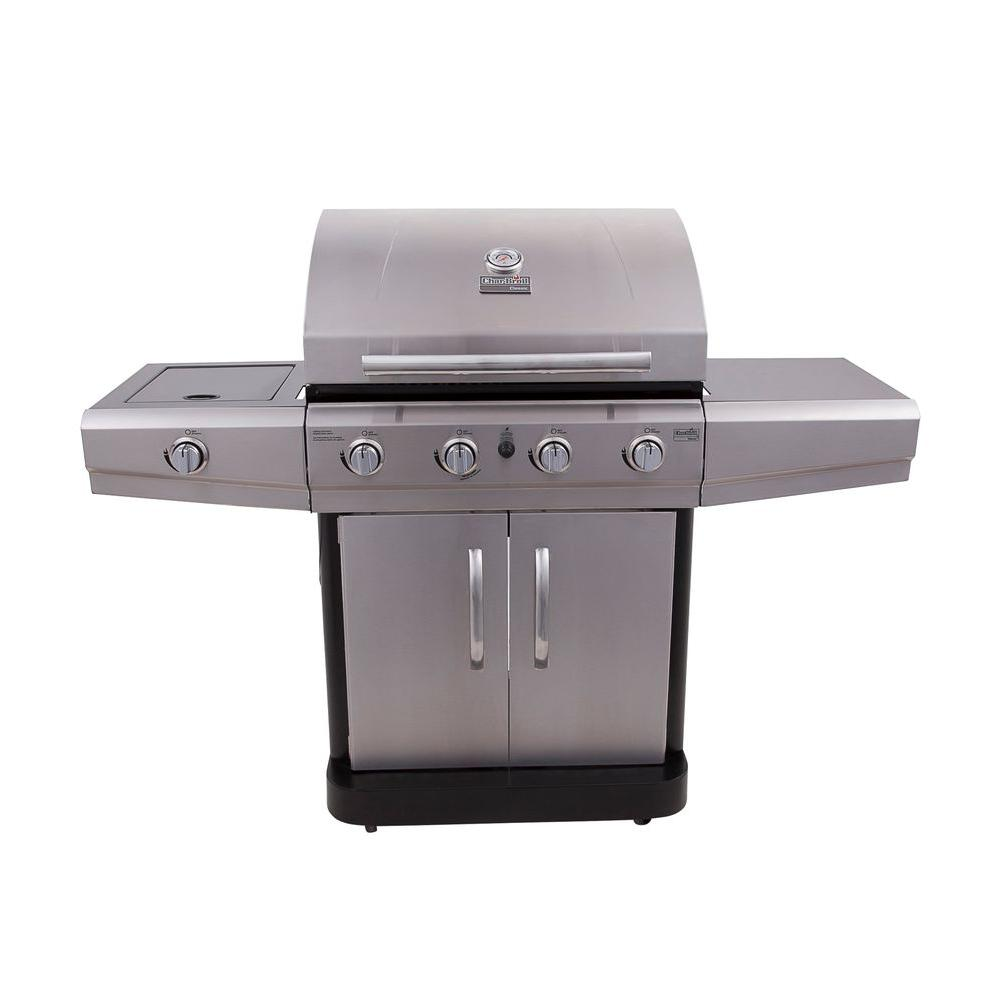 Char-Broil Classic 4-Burner Propane Gas Grill with Side Burner