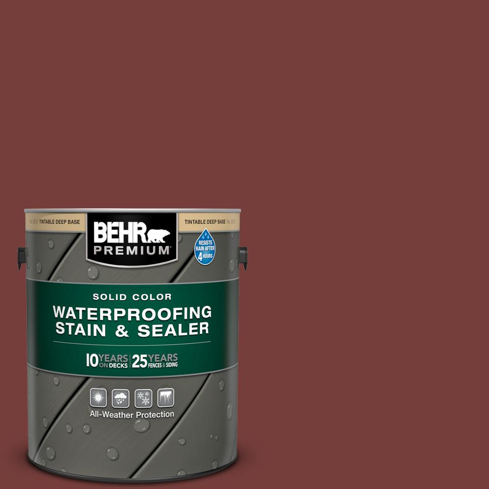 BEHR PREMIUM 1 gal. #PPU2-19 Royal Liqueur Solid Color Waterproofing Exterior Wood Stain and Sealer