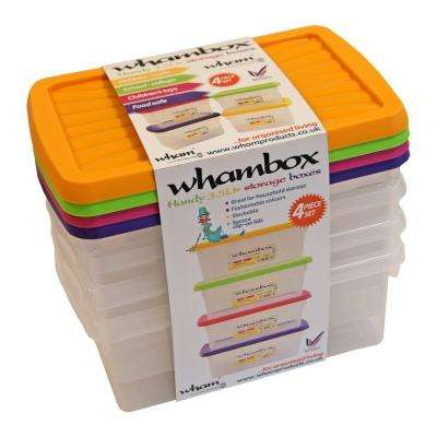 3.7-Qt. Organizer Storage Box (Set of 4)