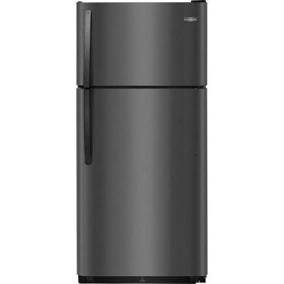 18 cu. ft. Top Freezer Refrigerator in Black Stainless Steel