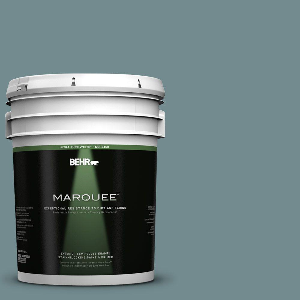 BEHR MARQUEE 5-gal. #PPF-46 Leisure Time Semi-Gloss Enamel Exterior Paint
