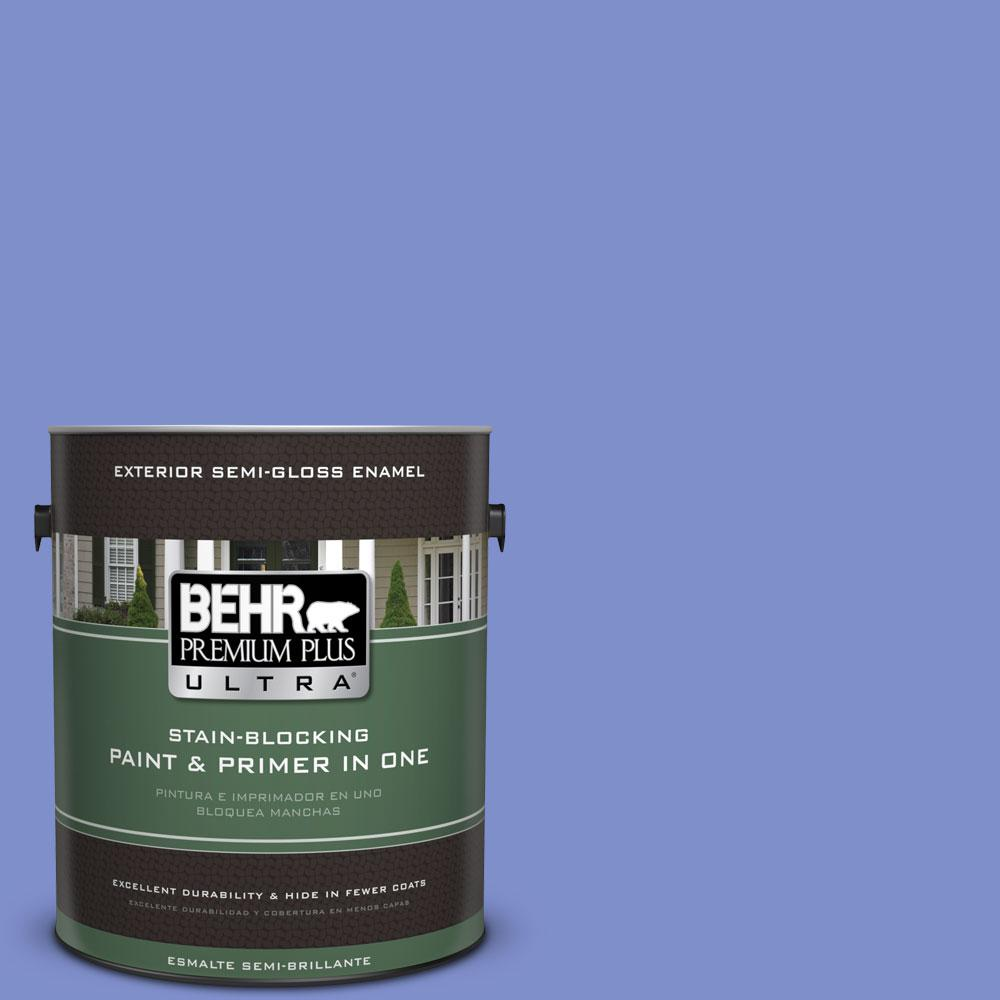 BEHR Premium Plus Ultra 1-gal. #P540-5 Pansy Garden Semi-Gloss Enamel Exterior Paint
