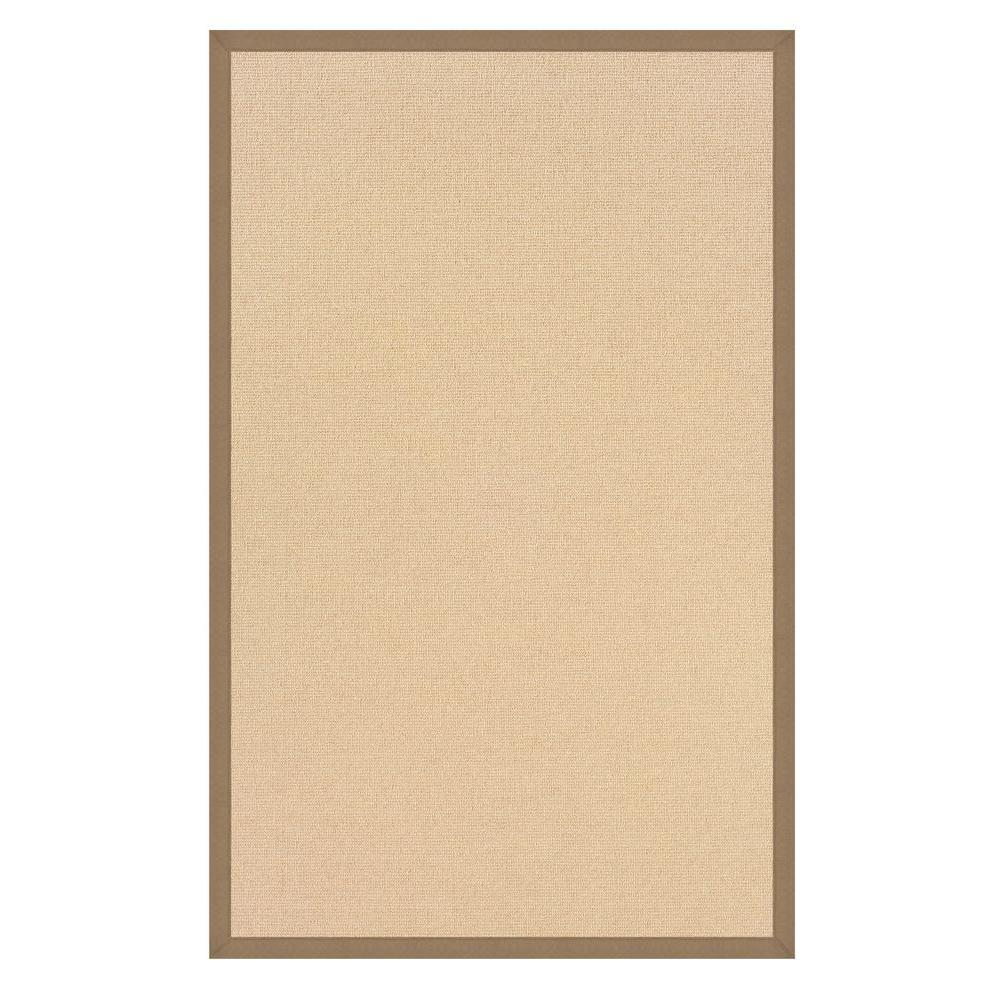 Athena Natural and Beige 5 ft. x 8 ft. Area Rug
