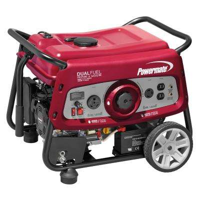 3500-Watt Dual Fuel Electric Start Powered Portable Generator with OHV engine, 49-state/CSA Compliant
