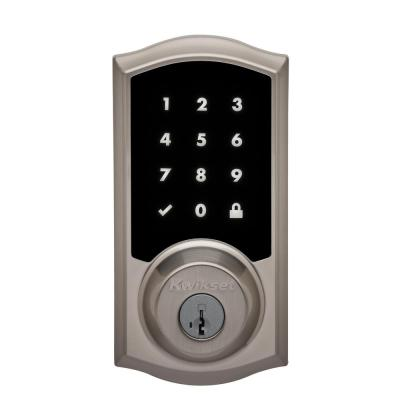 Premis Touchscreen Smart Lock Satin Nickel Single Cylinder Electronic Deadbolt Featuring SmartKey Security