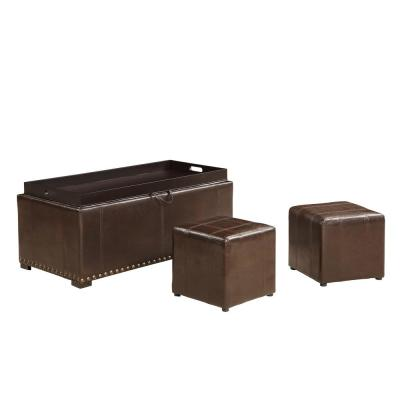 Peachy Faux Leather Ottomans Living Room Furniture The Home Depot Gmtry Best Dining Table And Chair Ideas Images Gmtryco