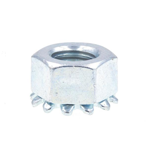 5/16 in.-24 Zinc Plated Steel K-Lock Nuts with External Tooth Washer (50-Pack)