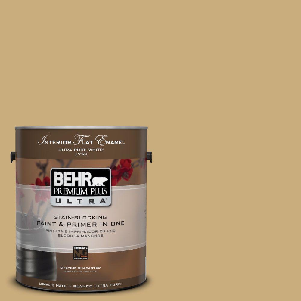 BEHR Premium Plus Ultra 1-gal. #UL180-7 Cup of Tea Interior Flat Enamel Paint