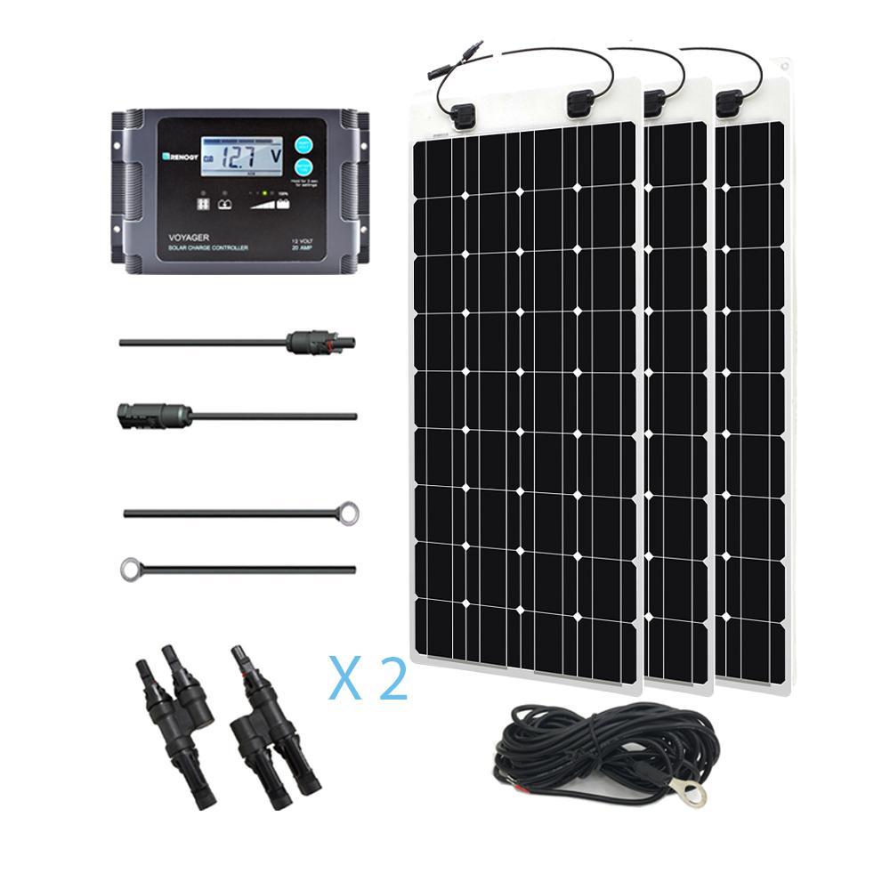300-Watt 12-Volt Monocrystalline Off-Grid Solar System Solar Marine Kit