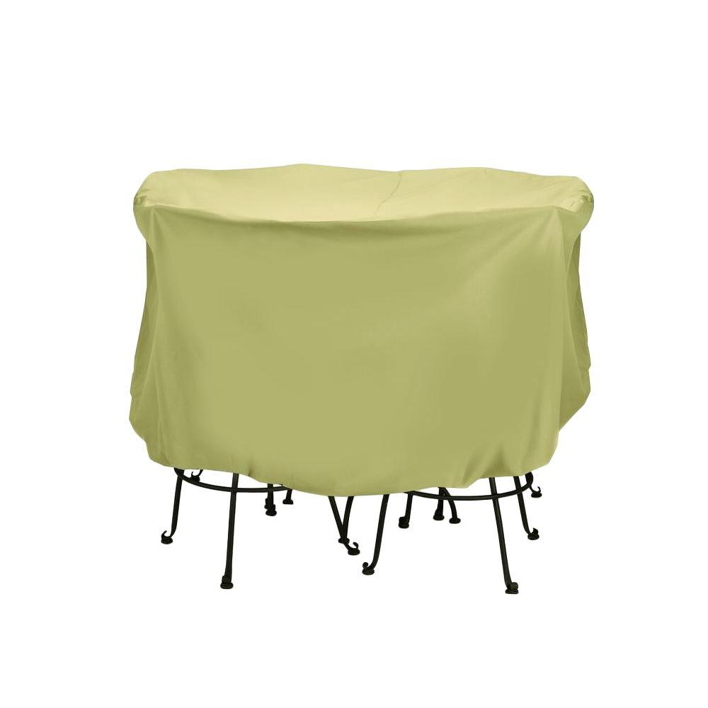 Two dogs designs 74 in khaki large patio bistro set cover for Two dogs furniture covers