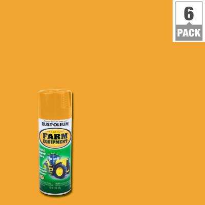 12 oz. Farm Equipment Caterpillar Yellow Gloss Enamel Spray Paint (6-Pack)