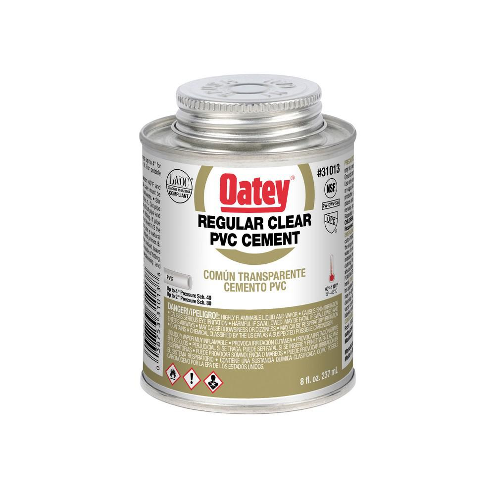 Oatey 8 oz pvc cement 310133 the home depot for Cement cleaning products