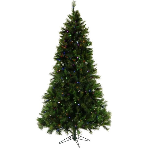 7.5 ft. Pennsylvania Pine Artificial Christmas Tree with Multi-Color LED Lighting and Holiday Soundtrack