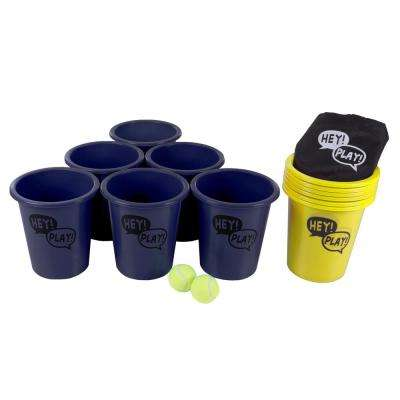 Large Blue and Yellow Beer Pong Game